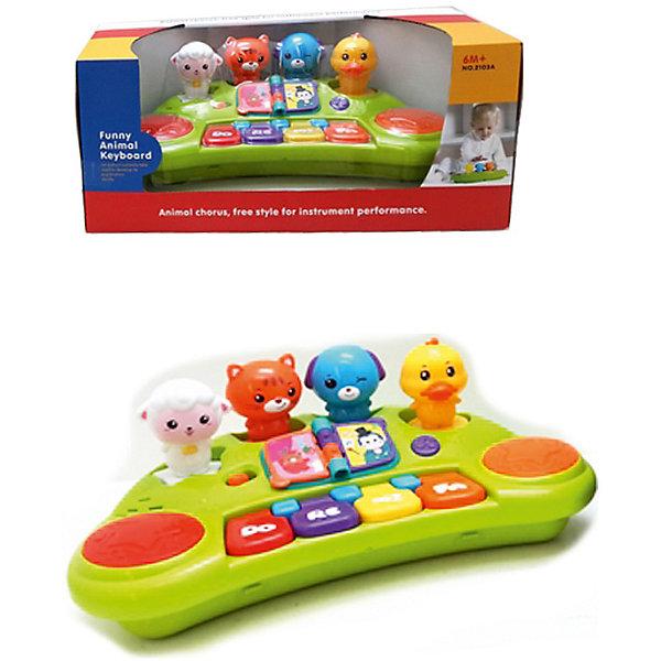 Музыкальный центр Huile ToysДругие музыкальные инструменты<br>Многофункциональный музыкальный центр порадует и малышей и их родителей.Такие игрушки стимулируют воображение и развивают мелкую моторику детей.<br>- 3 режима: пианино, забавные звуки и музыкальный режим- 4 фигурки забавных красочных зверюшек съемные, малыш сможет играть с ними отдельно<br>- кнопки со звуками- красочная книжка- панель пианино- сделано из экологически чистых материалов, весь товар сертифицирован<br><br>Ширина мм: 360<br>Глубина мм: 190<br>Высота мм: 160<br>Вес г: 1000<br>Возраст от месяцев: 6<br>Возраст до месяцев: 18<br>Пол: Унисекс<br>Возраст: Детский<br>SKU: 7172290