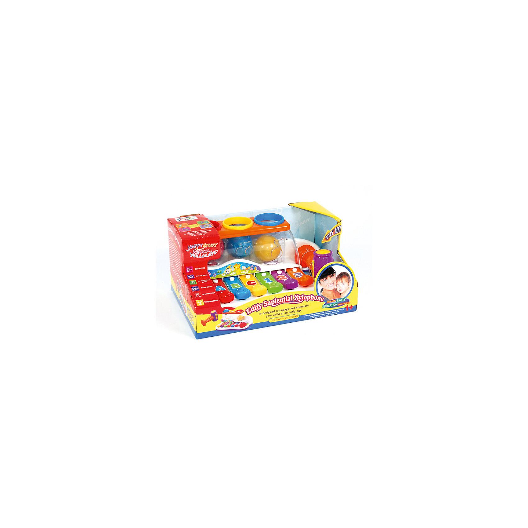 """Музыкальная игрушка Huile Toys """"Ксилофон с молоточком и шарами"""" от myToys"""