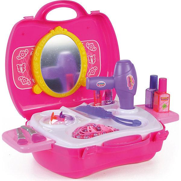 Игровой набор Yako Toys Салон красоты, в чемоданчикеСалон красоты<br>Характеристики товара:<br><br>• возраст: от 3 лет;<br>• размер игрушки: 30х30х4 см.;<br>• состав: пластик;<br>• вес упаковки: 600 гр.;<br>• упаковка: картонная коробка блистерного типа;<br>• бренд, страна: Yako Toys, Китай;<br>• страна-производитель: Китай.<br><br>Игровой набор «Салон красоты» от торговой марки  Yako Toys представлен в виде чемоданчика с различными элементами и аксессуарами, необходимыми для того, чтобы девочка почувствовала себя настоящим стилистом. Чемоданчик удобно носить с собой и играть со своими куклами или друзьями в стилистов, к тому же для игры в наборе имеется все необходимое: фен, расческа, 2 яркие резинки, браслеты, 2 помады, бутылочки с лаками, пластиковые кисти для макияжа и другие аксессуары. <br><br>Игровой набор Yako «Салон красоты»  будет отличным подарком вашей девочке на любой праздник! Сюжетно-ролевые игры помогают детям развивать воображение, образное мышление, логику, а также увеличивать словарный запас.<br><br>Игрушки от бренда от Yako Toys отличаются яркостью цвета, который со временем не тускнее и выполненны из высокачественного гипоаллергенного материала безвредного для детского здоровья.<br><br>Игровой набор «Салон красоты» в чемоданчике от Yako Toys (Яко Тойз)  можно купить в нашем интернет-магазине.<br><br>Ширина мм: 300<br>Глубина мм: 300<br>Высота мм: 35<br>Вес г: 500<br>Возраст от месяцев: 36<br>Возраст до месяцев: 72<br>Пол: Женский<br>Возраст: Детский<br>SKU: 7172303
