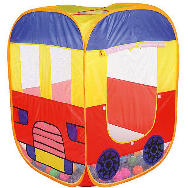 Игровая палатка Yako Toys АвтобусИгровые центры<br>Детская палатка с одним отделением Автобус поможет организовать необычное спальное место как дома , так и на природе. Она сшита из приятного на ощупь материала с рисунком автобуса. Еще в ней можно хранить игрушки. Также в ней хорошо устроить свой штаб. Раньше его делали из стульев, кресел и покрывал, а теперь можно купить готовую палатку для детей<br><br>Ширина мм: 250<br>Глубина мм: 160<br>Высота мм: 130<br>Вес г: 600<br>Возраст от месяцев: 18<br>Возраст до месяцев: 36<br>Пол: Унисекс<br>Возраст: Детский<br>SKU: 7172304