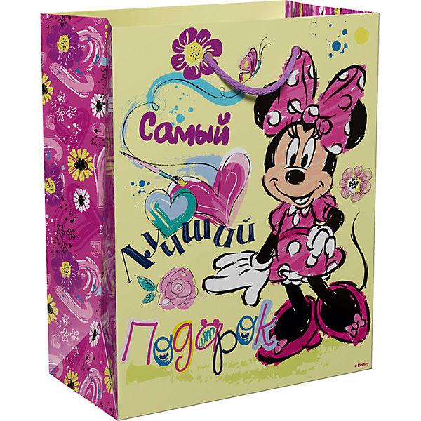 Подарочный пакет Росмэн Дисней Минни Маус. Самый лучший подарокДетские подарочные пакеты<br>Подарочный бумажный пакет Самый лучший подарок ТМ Disney Минни декорирован красочным, привлекательным принтом. Размер: 23х18х10 см. Плотность бумаги: 128 г/м2.<br><br>Ширина мм: 230<br>Глубина мм: 180<br>Высота мм: 3<br>Вес г: 39<br>Возраст от месяцев: 36<br>Возраст до месяцев: 144<br>Пол: Женский<br>Возраст: Детский<br>SKU: 7175767