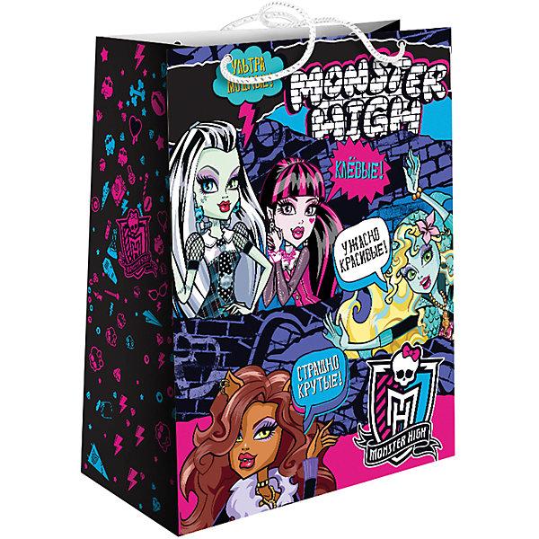Подарочный monster Росмэн Monster High. ГраффитиДетские подарочные пакеты<br>Подарочный бумажный пакет «Граффити» ТМ «Monster High» имеет размер 33х26,7х13,7 см и декорирован ярким принтом.<br><br>Ширина мм: 330<br>Глубина мм: 267<br>Высота мм: 2<br>Вес г: 83<br>Возраст от месяцев: 36<br>Возраст до месяцев: 144<br>Пол: Женский<br>Возраст: Детский<br>SKU: 7175774