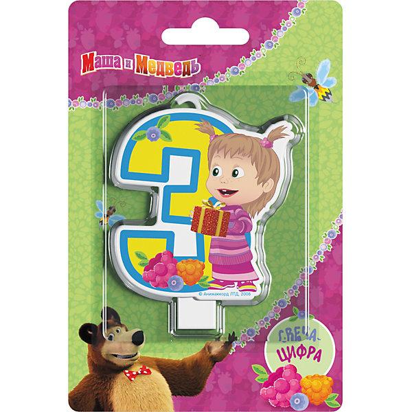 Свеча для торта Росмэн Маша и Медведь. Свеча-цифра 3Детские свечи для торта<br>Фигурная свеча Цифра 1 ТМ Маша и Медведь имеет высоту 8 см. Изготовлено из стеарина. Упаковка - блистер.<br><br>Ширина мм: 150<br>Глубина мм: 100<br>Высота мм: 6<br>Вес г: 40<br>Возраст от месяцев: 36<br>Возраст до месяцев: 144<br>Пол: Унисекс<br>Возраст: Детский<br>SKU: 7175794
