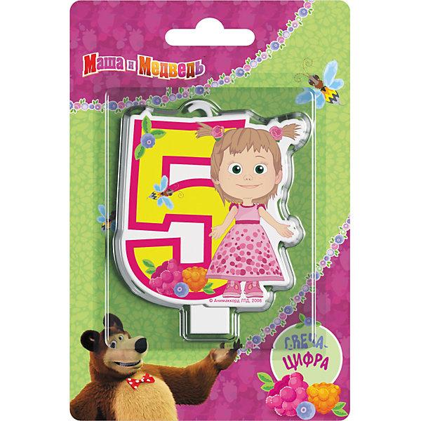 Свеча для торта Росмэн Маша и Медведь. Свеча-цифра 5Детские свечи для торта<br>Фигурная свеча Цифра 1 ТМ Маша и Медведь имеет высоту 8 см. Изготовлено из стеарина. Упаковка - блистер.<br><br>Ширина мм: 150<br>Глубина мм: 100<br>Высота мм: 6<br>Вес г: 40<br>Возраст от месяцев: 36<br>Возраст до месяцев: 144<br>Пол: Унисекс<br>Возраст: Детский<br>SKU: 7175802
