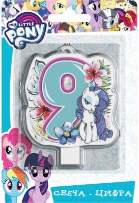 Свеча для торта Росмэн My little Pony. Свеча-цифра 9