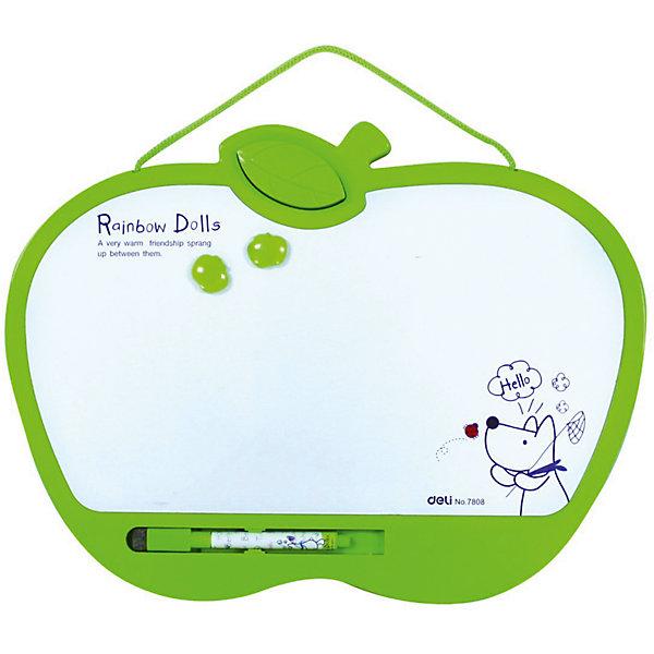 Магнитно-маркерная доска Deli белая, 22х28 (2 магнита, маркер, стиратель)Доски<br>Характеристики товара:<br><br>• тип: доска магнитно-маркерная<br>• для обучения и рисования<br>• в комплекте 2 магнита, маркер и стиратель<br>• можно вешать на стену<br>• размер: 28х22х3 см.<br><br>Демонстрационную доску Deli E7807 можно купить в нашем интернет-магазине.<br>Ширина мм: 280; Глубина мм: 220; Высота мм: 30; Вес г: 250; Возраст от месяцев: 36; Возраст до месяцев: 144; Пол: Унисекс; Возраст: Детский; SKU: 7179062;