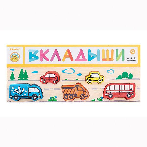 Деревянная рамка-вкладыш Томик ТранспортДеревянные игрушки<br>Характеристики товара:<br><br>• в комплекте: рамка, 5 фигурок;<br>• возраст: от 1 года;<br>• материал: дерево;<br>• размер упаковки: 13х31х2 см;<br>• страна производства: Россия.<br><br>Рамка-вкладыш «Транспорт» содержит 5 фигурок, выполненных в виде различных видов транспорта, знакомых даже самым маленьким. В рамке расположены выемки, соответствующие форме фигурок. Малышу необходимо найти подходящую выемку и поставить в нее фигурку.<br><br>Все детали изготовлены из качественной древесины, окрашены безопасной краской. Игра с данным набором хорошо развивает мелкую моторику, логическое мышление, координацию движений рук.<br><br>Рамку-вкладыш Томик 362 «Транспорт» можно купить в нашем интернет-магазине.<br>Ширина мм: 300; Глубина мм: 130; Высота мм: 25; Вес г: 240; Возраст от месяцев: 36; Возраст до месяцев: 2147483647; Пол: Унисекс; Возраст: Детский; SKU: 7181118;
