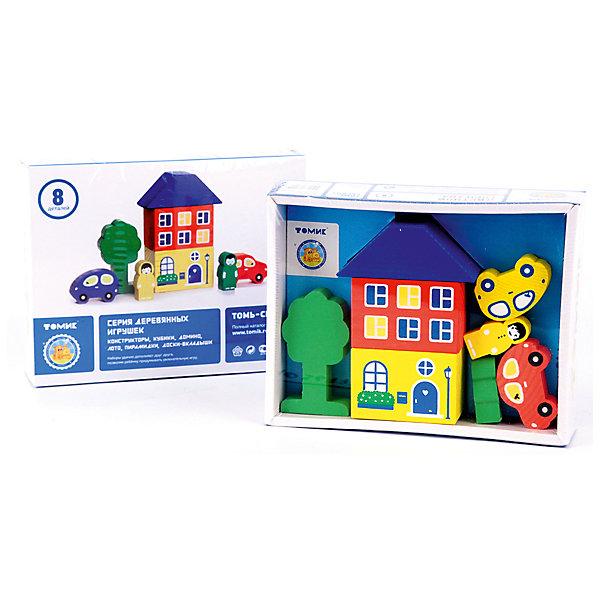 Деревянный конструктор Томик Цветной городок, 8 деталей (голубой)Деревянные конструкторы<br>Характеристики товара:<br><br>• в комплекте: 8 деталей;<br>• возраст: от 3 лет;<br>• материал: дерево;<br>• размер упаковки: 17х13х4 см;<br>• страна производства: Россия.<br><br>Данный набор подарит ребенку возможность построить настоящий город и придумать интересные сюжеты для жителей. В набор входят 8 деталей, из которых можно построить двухэтажный дом, автомобили и человечков. Все детали устойчиво располагаются на плоской поверхности. Элементы набора изготовлены из качественной древесины и окрашены безопасными красителями, благодаря чему пользоваться набором смогут самые маленькие строители.<br><br>Игровой набор Томик 8688-3 «Цветной городок» 8 дет., голубой можно купить в нашем интернет-магазине.<br><br>Ширина мм: 170<br>Глубина мм: 130<br>Высота мм: 40<br>Вес г: 250<br>Возраст от месяцев: 36<br>Возраст до месяцев: 2147483647<br>Пол: Унисекс<br>Возраст: Детский<br>SKU: 7181123