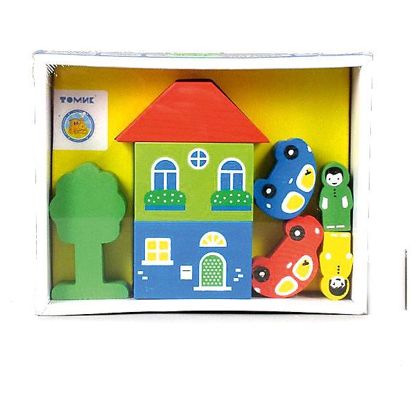 Деревянный конструктор Томик Цветной городок, 8 деталей (желтый)Конструкторы для малышей<br>Характеристики товара:<br><br>• в комплекте: 8 деталей;<br>• возраст: от 3 лет;<br>• материал: дерево;<br>• размер упаковки: 17х13х4 см;<br>• страна производства: Россия.<br><br>Из конструктора «Цветной городок» можно построить настоящий город с жителями, зданиями и даже транспортом. В набор входят восемь деталей, изготовленных из качественной древесины, покрытой нетоксичными красками. Фигурки тщательно отшлифованы, они устойчиво стоят на плоской поверхности и долго сохраняют яркость цвета. Игра с деревянным конструктором замечательно развивает мелкую моторику, фантазию, воображение и координацию движений.<br><br>Игровой набор Томик 8688-1 «Цветной Городок» 8 дет., желтый можно купить в нашем интернет-магазине.<br>Ширина мм: 170; Глубина мм: 130; Высота мм: 40; Вес г: 250; Возраст от месяцев: 36; Возраст до месяцев: 2147483647; Пол: Унисекс; Возраст: Детский; SKU: 7181126;