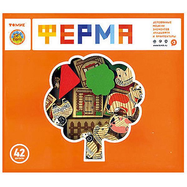 Деревянный конструктор Томик Ферма, 42 деталиДеревянные конструкторы<br>Характеристики товара:<br><br>• количество деталей: 42;<br>• возраст: от 3 лет;<br>• материал: дерево;<br>• размер упаковки: 22х4х25 см;<br>• страна производства: Россия.<br><br>С набором «Ферма» ребёнок сможет построить настоящую ферму, которая состоит из фигурок людей, фигурок животных, деревьев, заборов и других декораций. Элементы набора можно расставить любым удобным способом - они будут устойчиво стоять на столе. Кроме того, фигурками можно воспользоваться и для сюжетно-ролевых игр.  Игра с набором поможет развить мелкую моторику, фантазию, логическое мышление и концентрацию внимания.<br><br>Набор Томик 7678-2 «Ферма» 42 дет. можно купить в нашем интернет-магазине.<br><br>Ширина мм: 250<br>Глубина мм: 220<br>Высота мм: 40<br>Вес г: 525<br>Возраст от месяцев: 36<br>Возраст до месяцев: 2147483647<br>Пол: Унисекс<br>Возраст: Детский<br>SKU: 7181128