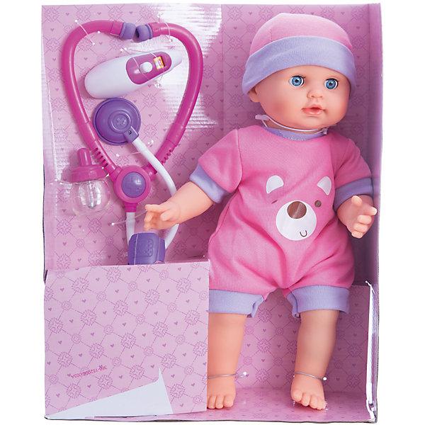 Интерактиная кукла Mary Poppins Вылечи меня, 36 см звукКуклы<br>Характеристики товара:<br><br>• возраст: от 3 лет;                                                                                                                                                                                                   • пол: для девочек;<br>• высота куклы: 36 см.;<br>• размер упаковки: 31х14х40,5 см.;<br>• упаковка: картонная коробка;<br>• вес: 1,18 кг.;<br>• комплектность: кукла, термометр , повязка, стетоскоп, лекарство; <br>• наличие батареек: ходят в комплект;<br>• тип батареек: 3 батарейки типа ААА;<br>• материал: ПВХ, пластик, текстиль, металл;<br>• торговая марка: Mary Poppins.<br><br>Пупс одет в красочный стильный костюмчик и оригинальную шапочку, у него лучезарные глазки, розовые щечки и милое выражение лица.<br><br>Для начала игры с куклой необходимо нажимать на ее живот и малышка начнет плакать. На левой ноге куклы появится красное пятнышко, похожее на ушиб. Надень повязку на пятнышко - оно исчезнет, а кукла засмеется. Через некоторое время малышка вновь почувствует себя плохо и начнет кашлять. Приложи термометр к левому уху малышки и измерь ей температуру - в этот время кукла будет забавно лепетать.Приложи к груди куклы стетоскоп и послушай ее сердечко. Дай кукле лекарство, приложив пипетку к ее ротику. Малышке станет лучше, она поправится и засмеется. <br><br>Интерактивную куклу можно купить в нашем интернет-магазине.<br><br>Ширина мм: 310<br>Глубина мм: 140<br>Высота мм: 405<br>Вес г: 1180<br>Возраст от месяцев: 36<br>Возраст до месяцев: 2147483647<br>Пол: Женский<br>Возраст: Детский<br>SKU: 7182132