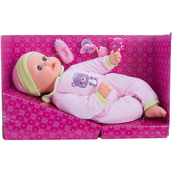 Интерактиная кукла Mary Poppins Любимый мишка, 40 см звукКуклы<br>Характеристики товара:<br><br>• возраст: от 3 лет;                                                                                                                                                                                                   • пол: для девочек;<br>• наличие батареек: входят в комплект;<br>• тип батареек: 3 батарейки  типа ААА;<br>• размер упаковки: 42х15х27 см.;<br>• упаковка: картонная коробка;<br>• вес: 1,23 кг.;<br>• высота куклы: 40 см.;<br>• комплектность: игрушечная бутылочка, соска-пустышка, прорезыватель, медвежонок;<br>• торговая марка: Mary Poppins.<br><br>Кукла одета в яркий и красивый комбинезон и модную шапочку, у нее выразительные глазки, пухлые щечки и нейтральное выражение лица.<br><br> Дополняют комплектацию этого набора различные аксессуары, которые помогут девочкам ухаживать за своим младенцем.<br><br> Такого рода игровая активность станет превосходным фундаментом для развития социальных навыков, ответственности и психической зрелости.<br><br>Интерактивную куклу можно купить в нашем интернет-магазине.<br><br>Ширина мм: 420<br>Глубина мм: 150<br>Высота мм: 270<br>Вес г: 1230<br>Возраст от месяцев: 36<br>Возраст до месяцев: 2147483647<br>Пол: Женский<br>Возраст: Детский<br>SKU: 7182133