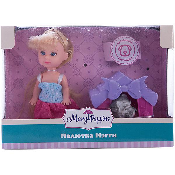 Набор с куклой Mary Poppins Кукла Мегги. Дом для питомцаКуклы<br>Характеристики товара:<br><br>• возраст: от 3 лет;                                                                                                                                                                                                   • пол: для девочек;<br>• комплектность: кукла, щенок, будка;<br>• размер упаковки: 16х6х11,5 см.;<br>• упаковка: картонная коробка;<br>• вес: 1,3 кг.;<br>• высота куклы: 9 см;<br>• материал: пластмасса, ПВХ с элементами текстиля;<br>• торговая марка: Mary Poppins.<br><br>Кукла из эксклюзивной коллекции Mary Poppins «Дом для питомца». <br><br>Набор состоит из симпатичной куклы с длинными волосами, щенка и красочной будки для него. У куклы подвижны ручки и ножки, к тому же у нее длинные волосы, которые можно переплетать или расчесывать. Будка выглядит  уютно и украшена бантиком.<br><br>Игрушки очень компактные - их можно брать на прогулку, в гости или в садик.<br><br>Куклу Мегги можно купить в нашем интернет-магазине.<br><br>Ширина мм: 160<br>Глубина мм: 60<br>Высота мм: 115<br>Вес г: 1300<br>Возраст от месяцев: 36<br>Возраст до месяцев: 2147483647<br>Пол: Женский<br>Возраст: Детский<br>SKU: 7182134