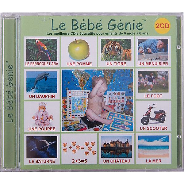 Обучающий CD-диск Вундеркинд с пелёнок на французском языке, 2 шт.Аудиокниги, DVD и CD<br>Комплект из 2-х дисков Le B?b? G?nie содержит более 200 озвученных, автоматизированных для просмотра презентаций на французском языке (более 5 000 слайдов) на самые разнообразные и интересные темы.<br><br>Ширина мм: 140<br>Глубина мм: 125<br>Высота мм: 10<br>Вес г: 80<br>Возраст от месяцев: 0<br>Возраст до месяцев: 96<br>Пол: Унисекс<br>Возраст: Детский<br>SKU: 7182291