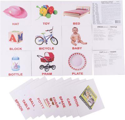 Набор обучающих карточек Вундеркинд с пелёнок Первые английские слова 20 штук