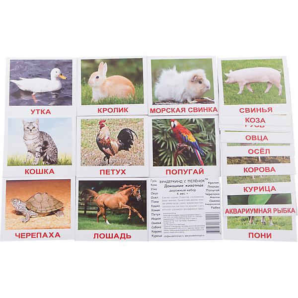 Набор обучающих мини-карточек Вундеркинд с пелёнок Домашние животные 20 штукОбучающие карточки<br>Характеристики:<br><br>• ISBN: 4612731630416;<br>• бренд: Вундеркинд с пеленок;<br>• вес: 50 гр;<br>• материал: картон;<br>• размер: 10x8,5x0,5 см;<br>• возраст: от 1 года;<br>• количество карточек: 20 шт.<br><br>Комплект карточек МИНИ-рус. яз. «Домашние животные» представляет из себя дорожный набор с  карточками с подписями на русском языке. Рекомендуется для занятий с детьми в поездках, на прогулке, в машине и т.д. Желательно использовать с детьми, освоившими наборы большого формата, т.к. Доман рекомендует начинать с крупного шрифта и постепенно сокращать его размер.<br><br>Поучительные карточки развивают память, внимание, усидчивость и другие полезные навыки. Набор подходит для детей от 1 года. <br><br>В набор карточек входят изображения: кошка, собака, корова, лошадь, пони, кролик, овца, коза, осёл, свинья, курица, петух, утка, гусь, индюк, хомяк, черепаха, попугай, морская свинка, аквариумная рыбка.<br>Комплект карточек МИНИ-рус. яз. «Домашние животные» можно купить в нашем интернет-магазине.<br><br>Ширина мм: 100<br>Глубина мм: 85<br>Высота мм: 5<br>Вес г: 50<br>Возраст от месяцев: 12<br>Возраст до месяцев: 60<br>Пол: Унисекс<br>Возраст: Детский<br>SKU: 7182320