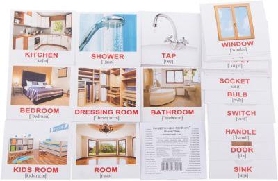 Набор обучающих мини-карточек Вундеркинд с пелёнок House/Дом , двухсторонний 40 штук
