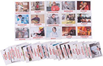 Набор обучающих мини-карточек Вундеркинд с пелёнок Occupations/Профессии , двухсторонний 40 штук