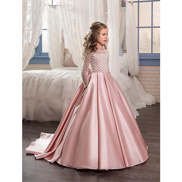 Платье Престиж для девочкиОдежда<br>Характеристики товара:<br><br>• цвет: розовый;<br>• состав : 100% полиэстер;<br>• подкладка: 100% хлопок;<br>• особенности модели: нарядная;<br>• застежка: пуговицы;<br>• корсет,пышная юбка;<br>• длинные рукава;<br>• стразы;<br>• страна бренда: Россия;<br>• страна изготовитель: Россия.<br><br>Потрясающее бальное платье из плотной атласной ткани. Лиф с длинными рукавами эффектно декорирован бусинами и пайетками. Красивый бант сзади эффектно завершает образ.<br><br>Платье Престиж для девочки можно купить в нашем интернет-магазине.<br><br>Ширина мм: 236<br>Глубина мм: 16<br>Высота мм: 184<br>Вес г: 177<br>Цвет: розовый<br>Возраст от месяцев: 72<br>Возраст до месяцев: 84<br>Пол: Женский<br>Возраст: Детский<br>Размер: 122,140,134,128<br>SKU: 7185581