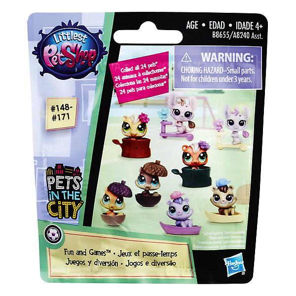 Игровая фигурка Hasbro Little Pet Shop в закрытой упаковкеКоллекционные фигурки<br>Характеристики товара:<br><br>• возраст: от 4 лет;<br>• материал: пластик;<br>• в комплекте: фигурка, аксессуар;<br>• высота фигурки: 5 см;<br>• размер упаковки: 12,4х11,4х3,2 см;<br>• вес упаковки: 50 гр.;<br>• страна производитель: Китай.<br><br>Фигурка зверюшки Hasbro Littlest Pet Shop представляет собой маленькую зверюшку. Фигурка продается в закрытой упаковке, поэтому какой именно зверек достанется девочке, будет для нее настоящим сюрпризом. В серии представлены различные персонажи, из которых можно собрать замечательную коллекцию.<br><br>Фигурку зверюшки Hasbro Littlest Pet Shop можно приобрести в нашем интернет-магазине.<br><br>Ширина мм: 178<br>Глубина мм: 216<br>Высота мм: 241<br>Вес г: 50<br>Возраст от месяцев: 48<br>Возраст до месяцев: 84<br>Пол: Женский<br>Возраст: Детский<br>SKU: 7185686
