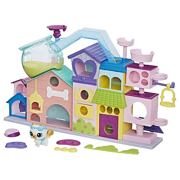 Игровой набор Hasbro Littlest Pet Shop Апартаменты для петовИгровые наборы с фигурками<br>Характеристики товара:<br><br>• возраст: от 4 лет;<br>• материал: пластик;<br>• в комплекте: 1 фигурка, домик;<br>• размер упаковки: 40,6х31,8х6,7 см;<br>• вес упаковки: 1,25 кг;<br>• страна производитель: Китай.<br><br>Игровой набор «Апартаменты для петов» Littlest Pet Shop Hasbro представляет собой настоящий домик для зверюшек Littlest Pet Shop. Домик состоит из нескольких ярусов. В каждом отделении есть свое окошко. А наверху домике даже есть настоящйи аквариум. Домик позволит разместить в нем все любимые фигурки. В набор включена одна фигурка зверюшки.<br><br>Игровой набор «Апартаменты для петов» Littlest Pet Shop Hasbro можно приобрести в нашем интернет-магазине.<br>Ширина мм: 67; Глубина мм: 406; Высота мм: 318; Вес г: 1250; Возраст от месяцев: 48; Возраст до месяцев: 2147483647; Пол: Женский; Возраст: Детский; SKU: 7186000;