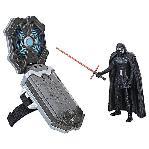 Игровой набор Hasbro Star Wars Браслет и фигурка 9 см, с иновационной технологиейИгровые наборы с фигурками<br>Характеристики товара:<br><br>• возраст: от 4 лет;<br>• материал: пластик;<br>• тип батареек: 3 батарейки типа ААА;<br>• наличие батареек: в комплект не входят;<br>• высота фигурки: 9 см;<br>• размер упаковки: 22,2х22,2х3,8 см;<br>• вес упаковки: 544 гр.;<br>• страна производитель: Китай.<br><br>Игровой набор с инновационной технологией Hasbro создан по мотивам известной космической саги «Звездные войны». В набор входят фигурка Кайло Рена и необычный браслет. Одев браслет на руку, им можно управлять фигуркой и окунуться в мир космических сражений. Браслет активирует световые и звуковые эффекты. Фигурка может произносить фразы.<br><br>Игровой набор с инновационной технологией Hasbro можно приобрести в нашем интернет-магазине.<br>Ширина мм: 38; Глубина мм: 222; Высота мм: 222; Вес г: 544; Возраст от месяцев: 24; Возраст до месяцев: 2147483647; Пол: Унисекс; Возраст: Детский; SKU: 7186011;
