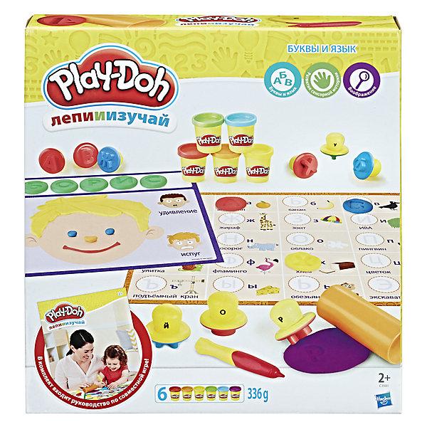 Набор пластилина Hasbro Play-Doh Буквы и языкиНаборы для лепки<br>Характеристики товара:<br><br>• возраст: от 2 лет;<br>• в комплекте: 33 буквы-штампы, стилус, ролик, 2 двухсторонних развивающих коврика, 6 банок пластилина;<br>• размер упаковки: 30,5х33х5,7 см;<br>• вес упаковки: 1,315 кг;<br>• страна производитель: Китай.<br><br>Игровой набор Play-Doh «Буквы и языки» позволит вылепить разнообразные фигурки из пластилина. Кроме этого, в игровой форме ребенок познакомится с буквами алфавитами, новыми словами, животными, понятиями, научится строить слова сам.<br><br>Пластилин Play-Doh выполнен из натуральных компонентов и безопасен для ребенка. Он хорошо разминается, не прилипает к рукам, не пачкает одежду.<br><br>Игровой набор Play-Doh «Буквы и языки» можно приобрести в нашем интернет-магазине.<br><br>Ширина мм: 57<br>Глубина мм: 305<br>Высота мм: 330<br>Вес г: 1315<br>Возраст от месяцев: 48<br>Возраст до месяцев: 2147483647<br>Пол: Женский<br>Возраст: Детский<br>SKU: 7186014