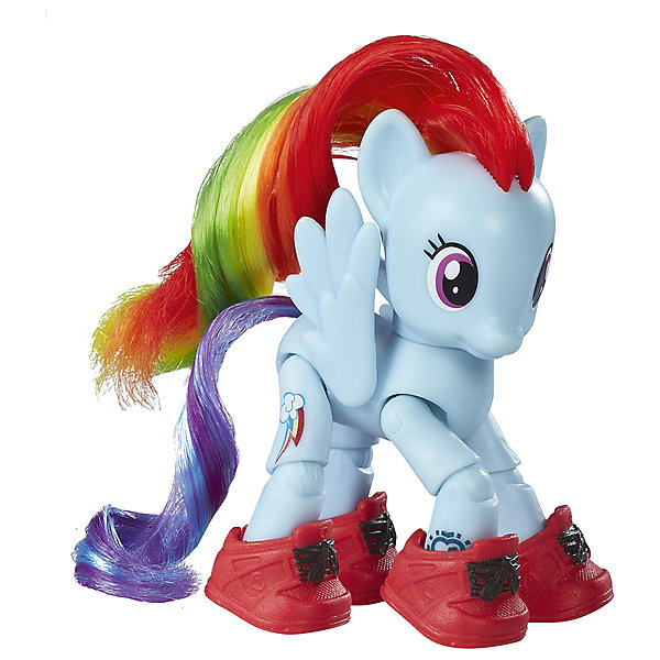 Игровой набор Hasbro My little Pony Пони с артикуляцией, Рейнбоу ДэшФигурки из мультфильмов<br>Характеристики товара:<br><br>• возраст: от 4 лет;<br>• материал: пластик;<br>• в комплекте: фигурка пони, аксессуары;<br>• размер упаковки: 17,8х18,4х4,8 см;<br>• вес упаковки: 136 гр.;<br>• страна производитель: Китай.<br><br>Фигурка пони с артикуляцией My Little Pony создана по мотивам известного мультсериала про очаровательных разноцветных пони. Она представляет собой одну из героинь мультфильма. У пони несколько точек артикуляции, у нее сгибаются ноги, она может даже садиться. Помимо этого, у пони разноцветная мягкая грива, которую можно расчесывать и украшать. Фигурка изготовлена из качественного пластика. <br><br>Фигурку пони с артикуляцией My Little Pony можно приобрести в нашем интернет-магазине.<br><br>Ширина мм: 48<br>Глубина мм: 178<br>Высота мм: 184<br>Вес г: 136<br>Возраст от месяцев: 48<br>Возраст до месяцев: 72<br>Пол: Женский<br>Возраст: Детский<br>SKU: 7186016