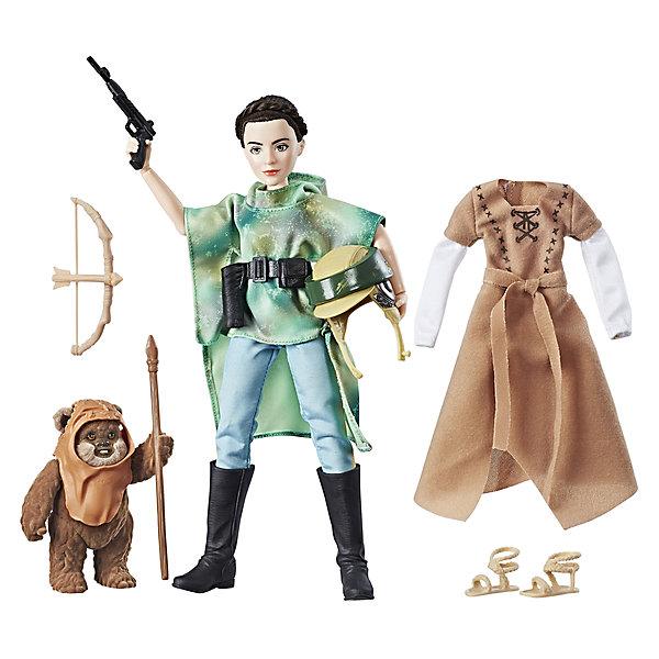 Кукла Hasbro Star Wars Планета Эндор, Принцесса Лея и ЭвокЗвездные войны Игрушки<br>Характеристики товара:<br><br>• возраст: от 4 лет;<br>• материал: пластик;<br>• в комплекте: кукла, дополнительный комплект одежды, фигурка Эвока;<br>• размер упаковки: 32,4х25,4х6,7 см;<br>• вес упаковки: 258 гр.;<br>• страна производитель: Китай.<br><br>Кукла «Звездные войны. Планета Эндор» Hasbro создана по мотивам известной космической саги «Звездные войны». Она представляет собой одну из известных героинь — принцессу Лею. Принцесса отправляется на планету Эндор, где встречает Эвока. С куклой можно придумать разнообразные захватывающие сюжеты для игры.<br><br>Куклу «Звездные войны. Планета Эндор» Hasbro можно приобрести в нашем интернет-магазине.<br><br>Ширина мм: 67<br>Глубина мм: 254<br>Высота мм: 324<br>Вес г: 258<br>Возраст от месяцев: 48<br>Возраст до месяцев: 2147483647<br>Пол: Мужской<br>Возраст: Детский<br>SKU: 7186022