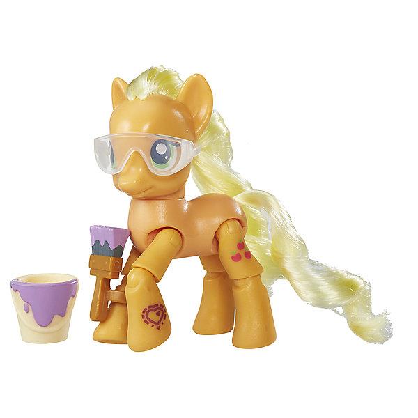 Игровой набор Hasbro My little Pony Пони с артикуляцией, ЭплджекИгровые фигурки животных<br>Характеристики товара:<br><br>• возраст: от 4 лет;<br>• материал: пластик;<br>• в комплекте: фигурка пони, аксессуары;<br>• размер упаковки: 17,8х18,4х4,8 см;<br>• вес упаковки: 136 гр.;<br>• страна производитель: Китай.<br><br>Фигурка пони с артикуляцией My Little Pony создана по мотивам известного мультсериала про очаровательных разноцветных пони. Она представляет собой одну из героинь мультфильма. У пони несколько точек артикуляции, у нее сгибаются ноги, она может даже садиться. Помимо этого, у пони разноцветная мягкая грива, которую можно расчесывать и украшать. Фигурка изготовлена из качественного пластика. <br><br>Фигурку пони с артикуляцией My Little Pony можно приобрести в нашем интернет-магазине.<br>Ширина мм: 48; Глубина мм: 178; Высота мм: 184; Вес г: 136; Возраст от месяцев: 48; Возраст до месяцев: 72; Пол: Женский; Возраст: Детский; SKU: 7186025;