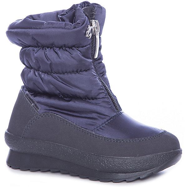 Сапоги Alaska Originale для девочкиДутики<br>Характеристики товара:<br><br>• цвет: серый<br>• внешний материал: текстиль<br>• внутренний материал: текстиль<br>• стелька: текстиль<br>• подошва: термопластик<br>• сезон: зима<br>• мембранные<br>• водонепроницаемая пропитка верха<br>• температурный режим: от -30 до -5<br>• защита мыса<br>• подошва не скользит<br>• застежка: молния<br>• анатомические <br>• страна бренда: Италия<br>• страна изготовитель: Румыния<br><br>Эти зимние детские сапоги имеют не только стильный проработанный дизайн, но и отлично подходят даже для сильных морозов. Теплая детская обувь от итальянского бренда Alaska Originale высокотехнологичная и стильная. Детская мембранная обувь позволяет воздуху свободно циркулировать, при этом такие сапоги для девочки призваны защитить ноги от ветра, холода и влаги. <br><br>Сапоги Alaska Originale (Аляска Ориджинал) для девочки можно купить в нашем интернет-магазине.<br><br>Ширина мм: 257<br>Глубина мм: 180<br>Высота мм: 130<br>Вес г: 420<br>Цвет: синий<br>Возраст от месяцев: 15<br>Возраст до месяцев: 18<br>Пол: Женский<br>Возраст: Детский<br>Размер: 22,27,23,24,25<br>SKU: 7187750
