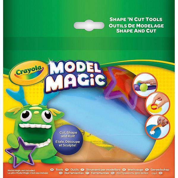 Набор из 6 инструментов для лепки CrayolaНаборы для лепки<br>Характеристики товара:<br><br>• возраст: от 4 лет;<br>• упаковка: картон;<br>• комплект - 6 предметов и пластилин;<br>• размеры упаковки - 18х18х4 см.;<br>• вес упаковки: 60 гр.; <br>• материал: пластик;<br>• бренд: Crayola (Крайола);<br>• страна-производитель: США.<br><br>Набор инструментов для лепки «Model Magic» состоит из 6 инструментов для лепки из пластилина от американского производителя Crayola. <br><br>Увлекательный набор станет отличным подарком для мальчиков и девочек старше 4 лет. Ребята смогут слепить множество фигур, а также раскатать пластилин специальным инструментом. Данный набор поможет детям развить творческие способности и сделать множество пластилиновых украшений.<br><br>Игры с пластилином способствуют развитию мелкой моторики, координации движений, усидчивости, воображения и множеству других полезных навыков. <br><br>Товары для творчества от американского производителя Crayola изготовлены из безопасных для здоровья ребенка материалов, прошедших соответствие европейским стандартам качества. <br><br>Набор инструментов для лепки «Model Magic», 6 инструментов, Crayola (Крайола) можно купить в нашем интернет-магазине.<br><br>Ширина мм: 40<br>Глубина мм: 180<br>Высота мм: 180<br>Вес г: 60<br>Возраст от месяцев: 48<br>Возраст до месяцев: 2147483647<br>Пол: Унисекс<br>Возраст: Детский<br>SKU: 7187846