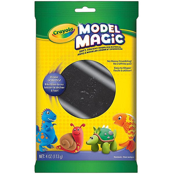 Застывающий пластилин Crayola Model Magic, черный 113 грМасса для лепки<br>Характеристики товара:<br><br>• возраст: от 4 лет;<br>• упаковка: пакет;<br>• размеры упаковки - 23х14х4 см.;<br>• вес упаковки: 120 гр.; <br>• состав: пластилин;<br>• цвет: черный;<br>• бренд: Crayola (Крайола);<br>• страна-производитель: США.<br><br>Застывающий пластилин «Model Magic» для лепки черного цвета от американского производителя Crayola. <br><br>Из данного пластилина можно слепить всевозможные фигурки, тщательно выделывая даже мелкие элементы. Масса имеет способность застывать на открытом воздухе в течение 1 суток, - в зависимости от толщины изделия. Это позволит в дальнейшем раскрасить фигурку, а затем играть с ней.<br><br>Игры с пластилином способствуют развитию мелкой моторики, координации движений, усидчивости, воображения и множеству других полезных навыков. <br><br>Товары для творчества от американского производителя Crayola изготовлены из безопасных для здоровья ребенка материалов, прошедших соответствие европейским стандартам качества. <br><br>Застывающий пластилин «Model Magic», черный, Crayola (Крайола) можно купить в нашем интернет-магазине.<br>Ширина мм: 40; Глубина мм: 140; Высота мм: 230; Вес г: 120; Возраст от месяцев: 48; Возраст до месяцев: 2147483647; Пол: Унисекс; Возраст: Детский; SKU: 7187851;