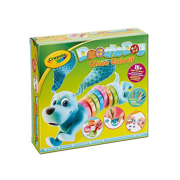Набор трафаретов для рисования Crayola Doodle DogДетские трафареты<br>Характеристики товара:<br><br>• возраст: от 4 лет;<br>• упаковка: картонная коробка;<br>• комплект: карандаши, трафареты, фломастеры, игрушка;<br>• размеры упаковки: 24х23х7 см.;<br>• вес упаковки: 300 гр.; <br>• материал: воск, пластик, бумага, полимер;<br>• бренд: Crayola (Крайола);<br>• страна-производитель: США.<br><br>Набор трафаретов для рисования «Doodle Dog» от американского производителя Crayola поможет ребенку украсить свои рисунки при помощи всевозможных атрибутов, среди которых трафареты, восковые карандаши и фломастеры. <br><br>В набор входят трафареты и разборная игрушечная собачка, туловище которой состоит из разноцветных колечек. Каждое кольцо представляет собой трафарет с различными фигурками. С помощью трафаретов ребенок может нарисовать карандашами или фломастерами разные рисунки. Собрав собачку из деталей, ребенок может играть с ней как с самостоятельной игрушкой.<br><br>Увлекательный набор станет отличным подарком для девочек и мальчиков старше 4 лет и поспособствует развитию мелкой моторики, координации движений, усидчивости, воображения и множеству других полезных навыков.<br><br>Товары для творчества от американского производителя Crayola изготовлены из безопасных для здоровья ребенка материалов, прошедших соответствие европейским стандартам качества. <br><br>Набор трафаретов для рисования «Doodle Dog» Crayola (Крайола) можно купить в нашем интернет-магазине.<br><br>Ширина мм: 70<br>Глубина мм: 232<br>Высота мм: 245<br>Вес г: 300<br>Возраст от месяцев: 48<br>Возраст до месяцев: 2147483647<br>Пол: Унисекс<br>Возраст: Детский<br>SKU: 7187860