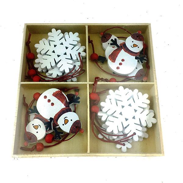 Украшение на елку Яркий праздник Снеговики 13х13Ёлочные игрушки<br>Характеристики:<br><br>• возраст: от 3 лет;<br>• материал: дерево; <br>• цвет: белый;<br>• размер: 13х13х13 см;<br>• вес: 120 гр;<br>•страна производитель: Китай.<br><br>Необычные елочные игрушки от производителя «Яркий праздник» позволят создать неповторимую елку, которая запомниться всем гостям. Украсить новогоднее дерево можно в ЭКО стиле, благодаря современному набору игрушек из нетоксичных, натуральных материалов. Подвесные украшения изготовлены из натурального дерева, поэтому они абсолютно безопасны даже для самых маленьких деток.<br><br>Можно не переживать за то, что игрушки разобьются и поранят детей - деревянные украшения на елку представляют собой единое целое. Экологически чистый материал позволит использовать их из года в год, принося радость и новогоднюю атмосферу всем членам семьи. <br><br>Эти легкие украшения созданы в виде красивых снеговиков. Также в наборе имеется несколько игрушек в форме белых снежинок, чтобы усовершенствовать образ новогодней красавицы-ели. Игрушки-снеговики имеют маленький вес – они подойдут для детей от трех лет.<br><br> Украшения подвесные из дерева «Снеговики», арт.17231 (1/12/72) / 13х13 см  можно купить в нашем интернет-магазине.<br>Ширина мм: 130; Глубина мм: 130; Высота мм: 130; Вес г: 120; Возраст от месяцев: 36; Возраст до месяцев: 2147483647; Пол: Унисекс; Возраст: Детский; SKU: 7187901;