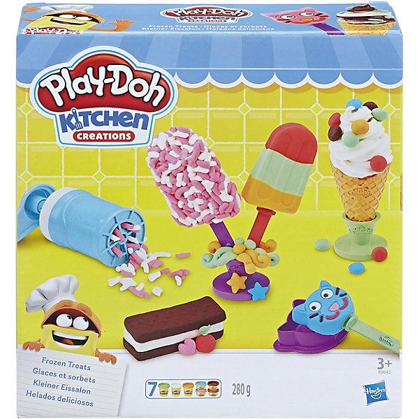 Игровой набор Play-Doh Создай любимое мороженоеНаборы для лепки игровые<br>Характеристики:<br><br>• возраст: от 3 лет;<br>• материал: пластик;<br>• в наборе: пластилин 7 цветов, аксессуары;<br>• вес упаковки: 625 гр.;<br>• размер упаковки: 21х7х22 см;<br>• страна бренда: США.<br><br>Play-Doh «Создай любимое мороженое» – яркий набор для творчества с пластилином. Ребенку предстоит вылепить аппетитное мороженое самых разных видов, поэкспериментировать с цветами, формой и размерами.<br><br>Разнообразие цветов поможет улучшить цветовосприятие. Во время игры развивается мелкая моторика и воображение. Сделано из качественных безопасных материалов.<br><br>Игровой набор Play-Doh «Создай любимое мороженое» можно купить в нашем интернет-магазине.<br>Ширина мм: 218; Глубина мм: 205; Высота мм: 73; Вес г: 634; Возраст от месяцев: 36; Возраст до месяцев: 84; Пол: Женский; Возраст: Детский; SKU: 7188874;