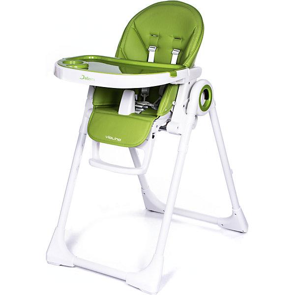 Стульчик для кормления Violino, Jetem, зеленыйСтульчики для кормления<br>арактеристики:<br>• 7 уровней высоты кресла;<br>• 5 положения наклона спинки;<br>• 3 положения подножки;<br>• 5-ти точечные ремни безопасности и паховый ограничитель;<br>• 2 положения глубины столешницы;<br>• съемная дополнительная прозрачная столешница;<br>• стульчик легко складывается и устойчив в сложенном виде;<br>• 2 колеса для мобильности;<br>• ширина сиденья: 36 см;<br>• размер стульчика в собранном состоянии: 82х55х105 см;<br>• размер стульчика в сложенном состоянии: 55х27х86 см;<br>• вес стульчика: 8 кг;<br>• вес в упаковке: 10 кг.<br>Стульчик для кормления Violino максимально комфортен: сидение регулируется на 7 уровнях высоты, столешницу можно фиксировать в двух положениях, также она снабжена дополнительной съемной столешницей. От королевы оркестра, скрипки, стульчик Violino позаимствовал изящество плавных линий в сочетании с высококачественными материалами. Мягкое сидение стульчика выполнено из экокожи. Спинка стульчика регулируется в 5-ти положениях вплоть до горизонтального положения. Безопасность обеспечивают 5-точечные ремни безопасности и разделитель для ножек, который не позволит малышу соскользнуть со стульчика. Стульчик в сложенном виде устойчив и занимает мало места. Его удобно передвигать за счет 2-х встроенных колесиков.<br>Jetem, Стульчик Violino Зелёный (Green) можно купить в нашем интернет-магазине.<br>Ширина мм: 880; Глубина мм: 280; Высота мм: 560; Вес г: 10000; Цвет: зеленый; Возраст от месяцев: 6; Возраст до месяцев: 60; Пол: Унисекс; Возраст: Детский; SKU: 7188933;