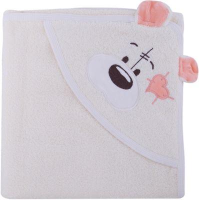 Полотенце с капюшоном Мишки Fun Dry, Twinklbaby, светло-бежевый с персиковыми ушками Полотенце с капюшоном Мишки Fun Dry, Twinklbaby, светло- с персиковыми ушками