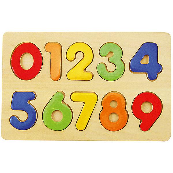 Вкладыши Изучаем цифрыДеревянные игрушки<br>Характеристики товара:<br><br>• возраст: от 3 лет;<br>• материал: дерево;<br>• в комплекте: игровое поле, 10 вкладышей;<br>• размер игрового поля: 22,5х14,5 см;<br>• размер упаковки: 23х15х1 см;<br>• вес упаковки: 175 гр.;<br>• страна производитель: Китай.<br><br>Вкладыши «Изучаем цифры» Mapacha — развивающая игрушка для малышей. Она познакомит ребенка с цифрами, способствует развитию логического мышления и мелкой моторики рук. Задача малыша вставлять цифры в соответствующее отверстие на игровом поле. Все детали выполнены из качественного натурального дерева, хорошо отшлифованы и окрашены безопасными красителями.<br><br>Вкладыши «Изучаем цифры» Mapacha можно приобрести в нашем интернет-магазине.<br>Ширина мм: 230; Глубина мм: 10; Высота мм: 150; Вес г: 175; Возраст от месяцев: -2147483648; Возраст до месяцев: 2147483647; Пол: Унисекс; Возраст: Детский; SKU: 7189991;