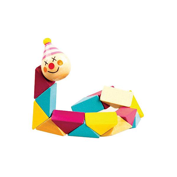 Логическая игрушка  КлоунГоловоломки Кубик Рубика<br>Характеристики товара:<br><br>• возраст: от 3 лет;<br>• материал: дерево;<br>• длина игрушки: 19 см;<br>• размер упаковки: 30х8х2 см;<br>• вес упаковки: 40 гр.;<br>• страна производитель: Китай.<br><br>Логическая игрушка «Клоун» Mapacha — развивающая игрушка для малышей, которая состоит из нескольких разноцветных элементов. Ребенку предстоит собирать их в различных комбинациях по принципу змейки. Игрушка способствует развитию логического мышления и мелкой моторики рук, познакомит малыша с формами и цветами. Все детали выполнены из качественного натурального дерева, хорошо отшлифованы и окрашены безопасными красителями.<br><br>Логическую игрушку «Клоун» Mapacha можно приобрести в нашем интернет-магазине.<br>Ширина мм: 80; Глубина мм: 15; Высота мм: 300; Вес г: 36; Возраст от месяцев: -2147483648; Возраст до месяцев: 2147483647; Пол: Унисекс; Возраст: Детский; SKU: 7190001;
