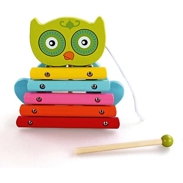 Ксилофон СовенокКсилофоны<br>Характеристики товара:<br><br>• возраст: от 3 лет;<br>• материал: дерево;<br>• размер игрушки: 13х14х6 см;<br>• размер упаковки: 17х18х8 см;<br>• вес упаковки: 415 гр.;<br>• страна производитель: Китай.<br><br>Ксилофон «Совенок» Mapacha — музыкальный инструмент для малышей, выполненный в виде разноцветного совенка. Ребенок будет стучать палочкой по клавишам и слушать звуки. Кроме того, ксилофон выполняет и роль каталки. Он оснащен колесиками и веревочкой, за которую его можно катать. Игрушка выполнена из качественного натурального дерева, хорошо отшлифована и окрашена безопасными красителями.<br><br>Ксилофон «Совенок» Mapacha можно приобрести в нашем интернет-магазине.<br>Ширина мм: 170; Глубина мм: 75; Высота мм: 180; Вес г: 438; Возраст от месяцев: -2147483648; Возраст до месяцев: 2147483647; Пол: Унисекс; Возраст: Детский; SKU: 7190012;