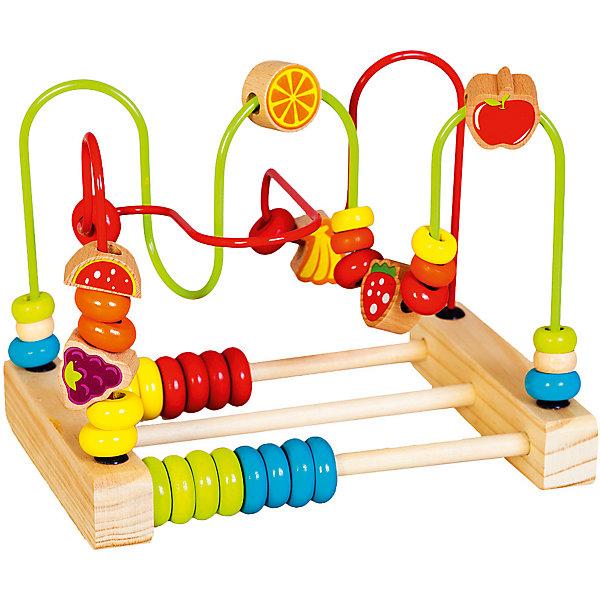 Лабиринт Mapacha Счёты, большойДеревянные игрушки<br>Характеристики товара:<br><br>• возраст: от 3 лет;<br>• материал: дерево;<br>• размер: 23х16,5х17 см;<br>• вес: 563 гр.<br><br>С игрой Лабиринт-счеты «Большой» ребенок быстро научится счету.<br>По бокам изделия располагаются разноцветные счёты - по 8 штук с каждой стороны. Игрушка оснащена крутым и извилистым лабиринтом, по которому можно очень весело передвигать яркие бусины.Изделие изготовлено из натуральной древесины. <br><br>Игра направлена на развитие мелкой моторики рук, памяти, логики и сообразительности.<br><br>Лабиринт-счеты «Большой» можно купить в нашем интернет-магазине.<br>Ширина мм: 230; Глубина мм: 165; Высота мм: 170; Вес г: 563; Возраст от месяцев: -2147483648; Возраст до месяцев: 2147483647; Пол: Унисекс; Возраст: Детский; SKU: 7190014;