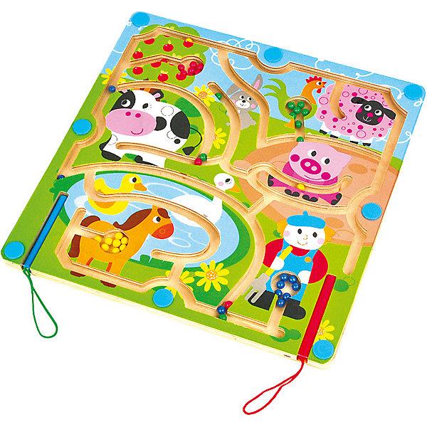 Магнитный лабиринт Домашние животныеДеревянные игрушки<br>Характеристики товара:<br><br>• возраст: от 3 лет;<br>• материал: дерево;<br>• в комплекте: игровая доска, шарики, 2 магнитных карандаша;<br>• размер игрушки: 29,5х29,5х1 см;<br>• размер упаковки: 30х30х2 см;<br>• вес упаковки: 708 гр.;<br>• страна производитель: Китай.<br><br>Магнитный лабиринт «Домашние животные» Mapacha — развивающая игрушка для малышей. Задача ребенка провести шарики по лабиринту при помощи магнитного карандаша в соответствующие их цвету отделения. Лабиринт способствует развитию мелкой моторики рук, логического мышления, познакомит малыша с цветами. Игрушка выполнена из качественного натурального дерева, хорошо отшлифована и окрашена безопасными красителями.<br><br>Магнитный лабиринт «Домашние животные» Mapacha можно приобрести в нашем интернет-магазине.<br>Ширина мм: 300; Глубина мм: 20; Высота мм: 300; Вес г: 721; Возраст от месяцев: -2147483648; Возраст до месяцев: 2147483647; Пол: Унисекс; Возраст: Детский; SKU: 7190072;