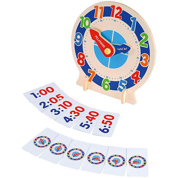 Развивающая игра с карточками Изучаем времяОбучающие карточки<br>Характеристики товара:<br><br>• возраст: от 3 лет;<br>• материал: дерево;<br>• в комплекте: часы, подставка, 12 карточек;<br>• размер игрушки: 22х22,5 см;<br>• размер упаковки: 23х23х4 см;<br>• вес упаковки: 290 гр.;<br>• страна производитель: Китай.<br><br>Развивающая игра с карточками «Изучаем время» Mapacha — увлекательная игра для малышей, которая познакомит их с числами, временем, часами, минутами, распорядком. Задача ребенка выставлять на часах время, указанное в карточке. Игрушка выполнена из качественного натурального дерева, хорошо отшлифована и окрашена безопасными красителями.<br><br>Развивающую игру с карточками «Изучаем время» Mapacha можно приобрести в нашем интернет-магазине.<br>Ширина мм: 230; Глубина мм: 40; Высота мм: 230; Вес г: 312; Возраст от месяцев: -2147483648; Возраст до месяцев: 2147483647; Пол: Унисекс; Возраст: Детский; SKU: 7190074;