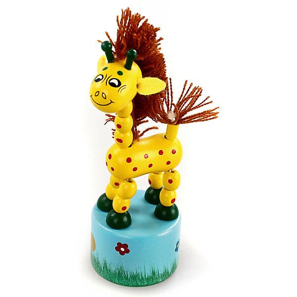 Танцующий жираф с гривойРазвивающие центры<br>Характеристики товара:<br><br>• возраст: от 3 лет;<br>• материал: дерево;<br>• высота игрушки: 12 см;<br>• размер упаковки: 19х11х5 см;<br>• вес упаковки: 75 гр.;<br>• страна производитель: Китай.<br><br>Игрушка «Танцующий жираф с гривой» Mapacha — развивающая игрушка для малышей в виде жирафика на подставке. Если нажать на кнопку на подставке, жираф начнет танцевать. Игрушка выполнена из качественного натурального дерева, хорошо отшлифована и окрашена безопасными красителями.<br><br>Игрушку «Танцующий жираф с гривой» Mapacha можно приобрести в нашем интернет-магазине.<br>Ширина мм: 110; Глубина мм: 45; Высота мм: 195; Вес г: 56; Возраст от месяцев: -2147483648; Возраст до месяцев: 2147483647; Пол: Унисекс; Возраст: Детский; SKU: 7190090;