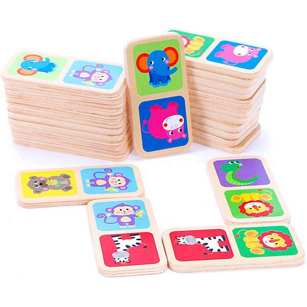 Домино ЖивотныеДомино<br>Характеристики товара:<br><br>• возраст: от 3 лет;<br>• материал: дерево;<br>• в комплекте: 28 деталей;<br>• размер упаковки: 16х9х4 см;<br>• вес упаковки: 208 гр.;<br>• страна производитель: Китай.<br><br>Домино «Животные» Mapacha — увлекательная настольная игра для малышей. Как и в классическом домино, детям предстоит расставлять детали на игровом поле одинаковыми картинками друг к другу. Все детали выполнены из качественного натурального дерева, хорошо отшлифованы и окрашены безопасными красителями.<br><br>Домино «Животные» Mapacha можно приобрести в нашем интернет-магазине.<br>Ширина мм: 160; Глубина мм: 40; Высота мм: 90; Вес г: 233; Возраст от месяцев: -2147483648; Возраст до месяцев: 2147483647; Пол: Унисекс; Возраст: Детский; SKU: 7190130;