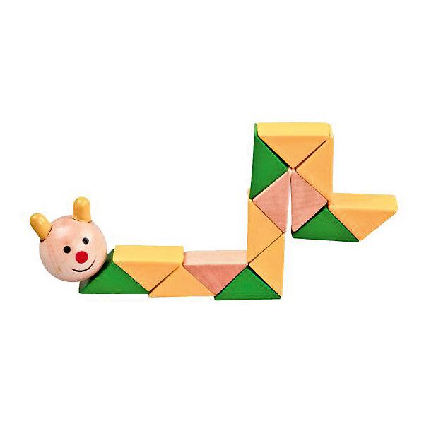 Логическая игрушка  ГусеницаГоловоломки Кубик Рубика<br>Характеристики товара:<br><br>• возраст: от 3 лет;<br>• материал: дерево;<br>• длина игрушки: 20 см;<br>• размер упаковки: 30х8х2 см;<br>• вес упаковки: 40 гр.;<br>• страна производитель: Китай.<br><br>Логическая игрушка «Гусеница» Mapacha — развивающая игрушка для малышей, которая состоит из нескольких разноцветных элементов. Ребенку предстоит собирать их в различных комбинациях по принципу змейки. Игрушка способствует развитию логического мышления и мелкой моторики рук, познакомит малыша с формами и цветами. Все детали выполнены из качественного натурального дерева, хорошо отшлифованы и окрашены безопасными красителями.<br><br>Логическую игрушку «Гусеница» Mapacha можно приобрести в нашем интернет-магазине.<br>Ширина мм: 80; Глубина мм: 15; Высота мм: 300; Вес г: 36; Возраст от месяцев: -2147483648; Возраст до месяцев: 2147483647; Пол: Унисекс; Возраст: Детский; SKU: 7190134;