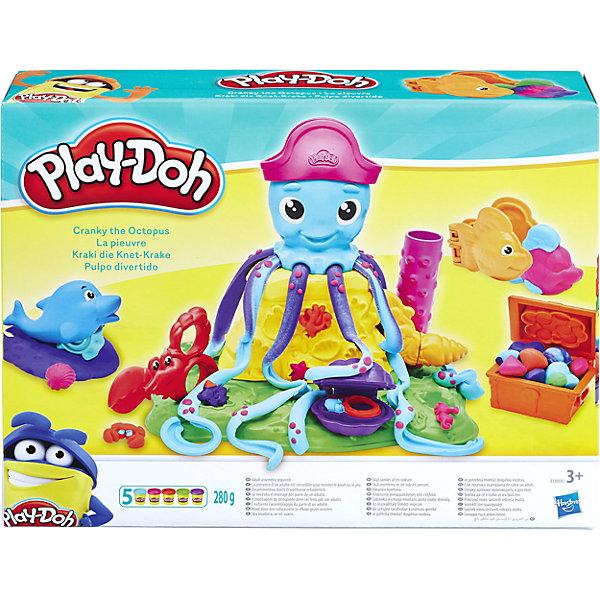 Игровой набор Play-Doh Веселый ОсьминогНаборы для лепки игровые<br>Характеристики:<br><br>• возраст: от 3 лет;<br>• материал: пластик;<br>• в наборе: осьминог; фигурки-формочки, пластилин 5 цветов;<br>• вес: 280 гр.;<br>• страна бренда: США.<br><br>Play-Doh «Веселый Осьминог» – яркий набор для творчества с пластилином. Ребенку предстоит самостоятельно вылепить недостающие части осьминога, поэкспериментировать с цветами, формой и размерами. Кроме того, в наборе есть и другие морские жители, у каждого своя функция.<br><br>Разнообразие цветов поможет улучшить цветовосприятие. Во время игры развивается мелкая моторика и воображение. Сделано из качественных безопасных материалов.<br><br>Игровой набор Play-Doh «Веселый Осьминог» можно купить в нашем интернет-магазине.<br>Ширина мм: 286; Глубина мм: 218; Высота мм: 73; Вес г: 784; Возраст от месяцев: 36; Возраст до месяцев: 84; Пол: Унисекс; Возраст: Детский; SKU: 7190659;