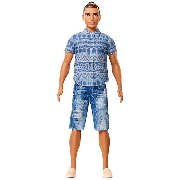 Кукла Barbie Mattel Кен Игра с модой, Джинсовый стильКуклы<br>Характеристики:<br><br>• возраст: от 3 лет;<br>• материал: пластмасса, текстиль;<br>• высота модели: 29 см;<br>• вес упаковки: 200 гр.;<br>• размер упаковки: 33х12х5 см;<br>• страна бренда: США.<br> У Кена подвижная голова, руки и ноги, что делает игры еще разнообразней. Игрушка сделана из качественных безопасных материалов.<br><br>Куклу Кен из серии «Игра с модой» 29 см, Barbie можно купить в нашем интернет-магазине.<br>Ширина мм: 125; Глубина мм: 60; Высота мм: 325; Вес г: 282; Возраст от месяцев: 36; Возраст до месяцев: 120; Пол: Женский; Возраст: Детский; SKU: 7191204;