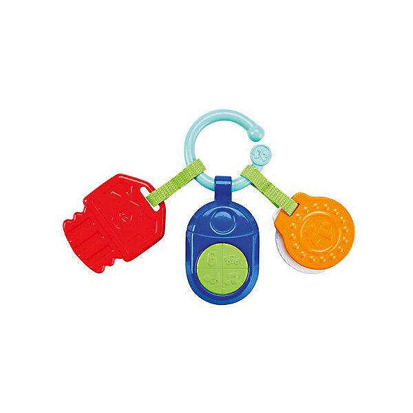 Игрушка-подвеска с прорезывателем Mattel Fisher Price Телефон и ключикиПодвески<br>Характеристики товара:<br><br>• возраст: с рождения;<br>• материал: пластик;<br>• тип батареек: 3 батарейки LR44;<br>• наличие батареек: в комплекте;<br>• размер игрушки: 10,5х6,5 см;<br>• размер упаковки: 23,8х16,4х2,2 см;<br>• вес упаковки: 113 гр.;<br>• страна производитель: Китай.<br><br>Музыкальный телефон Fisher Price — увлекательная игрушка для самых маленьких. Экран телефончика выполнен в виде зеркальца. На нем имеется несколько кнопочек, нажимая на которые малыш послушает музыкальные композиции. При помощи крючка телефон можно крепить на коляску, автокресло или кроватку. Игрушка выполнена из безопасных материалов.<br><br>Музыкальный телефон Fisher Price можно приобрести в нашем интернет-магазине.<br>Ширина мм: 238; Глубина мм: 164; Высота мм: 22; Вес г: 113; Возраст от месяцев: 0; Возраст до месяцев: 12; Пол: Унисекс; Возраст: Детский; SKU: 7191206;